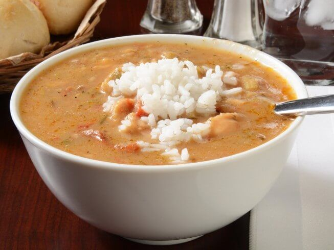 A recipe for Alligator or Crocodile Gumbo made with alligator meat, butter, green onions, parsley, garlic, celery, red bell pepper, green