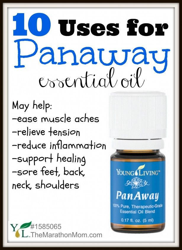 10 Uses for PanAway Essential Oil | TheMarathonMom.com