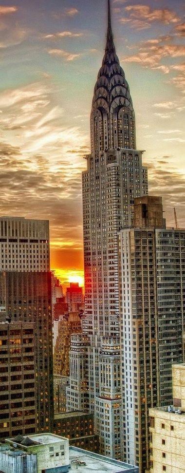 Sunset in New York, USA