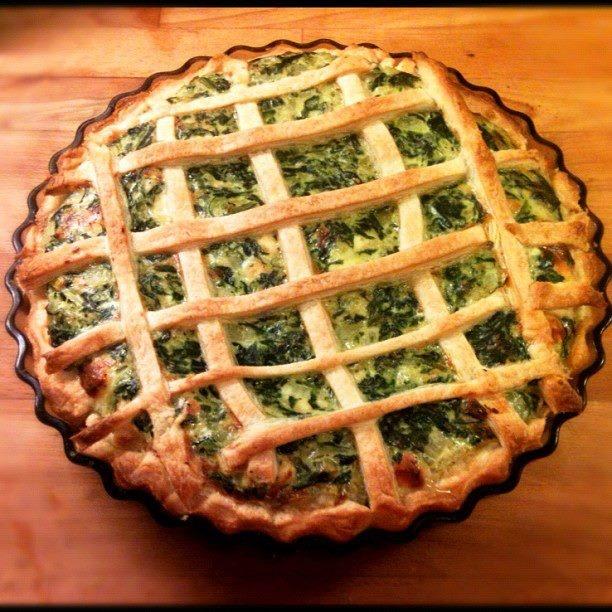 Spenach-halloumi pie that i made