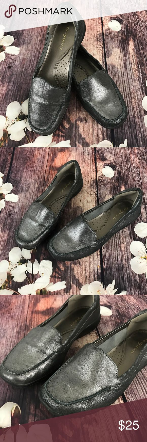 Easy Spirit Leather Shoes These shoes are perfect with slacks and very comfortable.  In like new condition. Easy Spirit Shoes Flats & Loafers