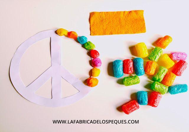 La fábrica de los peques: 6 Manualidades infantiles para el día de la Paz (incluye moldes gratis)