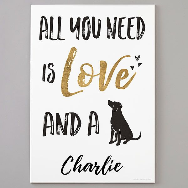 All You Need Is Love And A Dog Personalized Thin Wooden Sign In 2020 Personalized Wooden Signs Wooden Wall Signs Wooden Signs