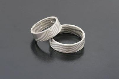 palladium and silver #Bielak #wedding rings  prices: info@RingsByBielak.com