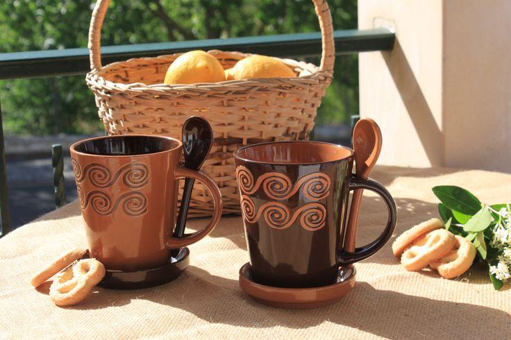 Canecas ❀ Terracota - Canecas em faiança em tons quentes e fortes, são perfeitas para as suas tisanas e infusões. ✿ Camel ✿ Chocolate Inspired by Lemon