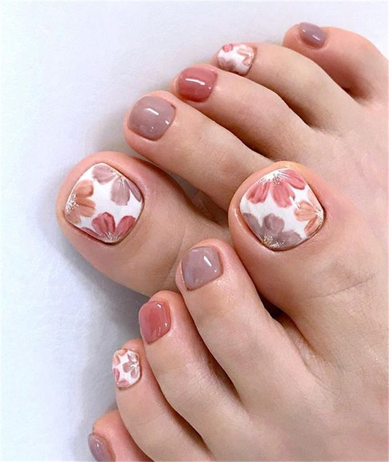 toe nail art designs, toe nail art summer, summer beach toe nails
