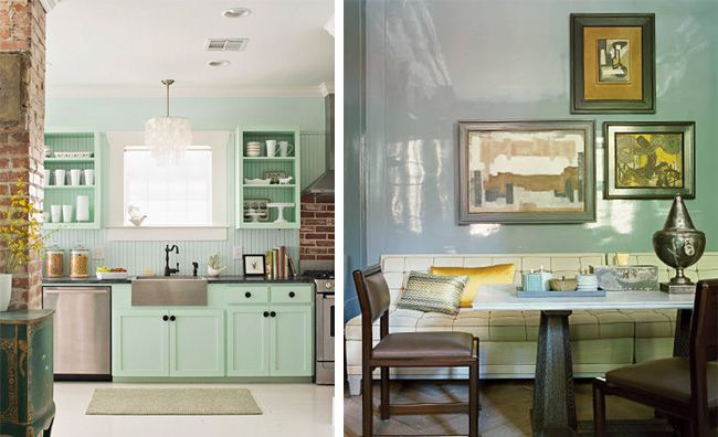 Brighten dark rooms with the appropriate paint selection on walls, ceilings and floors. Also consider lacquering the walls! via DiCorcia Design