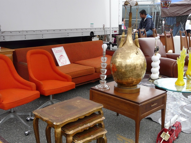 Gorgeous Orange Chairs At The Long Beach Antique Market