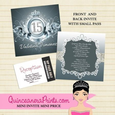 7 best Cheap Quinceanera Invitations images on Pinterest