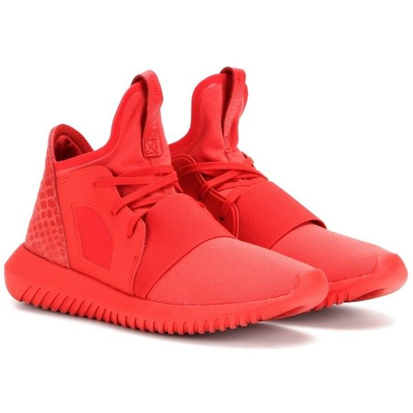 Adidas Tubular Defiant Sneakers (14240 RSD) ❤ liked on Polyvore featuring shoes, sneakers, red, adidas, adidas shoes, red trainer, adidas footwear and red shoes