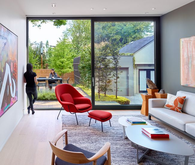 Contemporary two storey residence located in toronto canada designed by dubbeldam architecture design