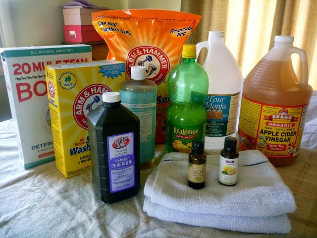 """The BEST DIY cleaning product and recipe list I have seen yet for natural cleaning products from The Browning Homestead. """"My Cleaning Arsenal…..the Top Ten 