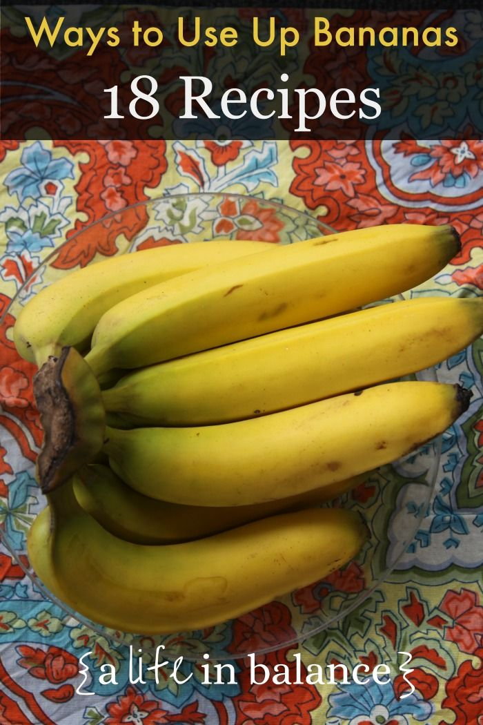 banana recipes: 18+ ways to use up those brown bananas on the kitchen counter
