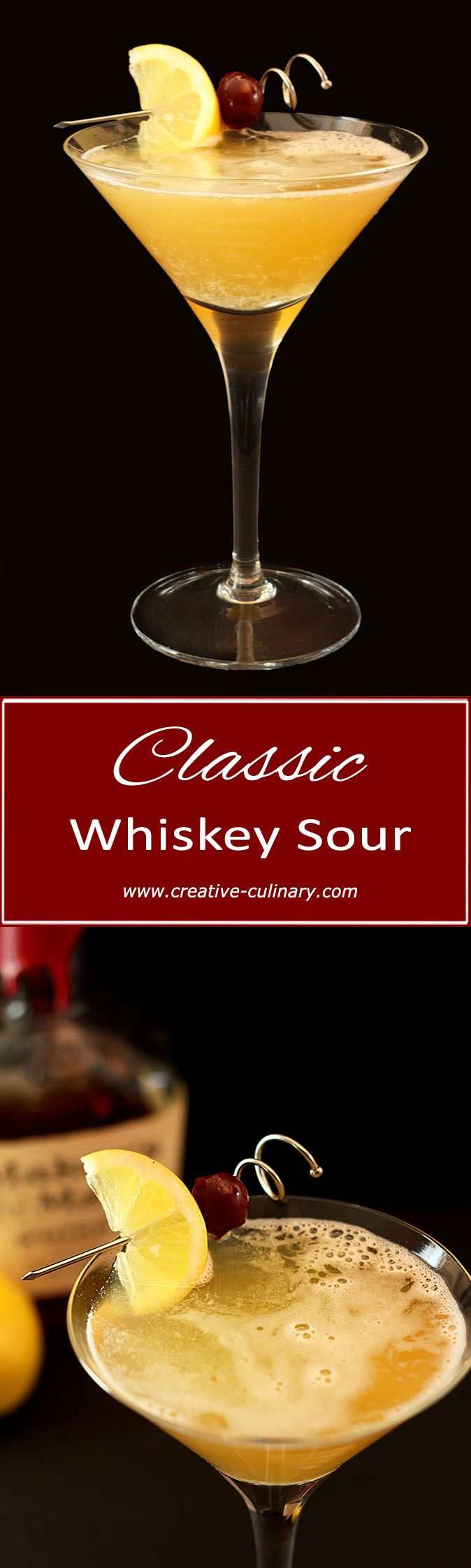This Classic Whiskey Sour is truly classic and it's easy too. Forget the sour mix and try this recipe with lemon and simple syrup...it's perfect! via @creativculinary