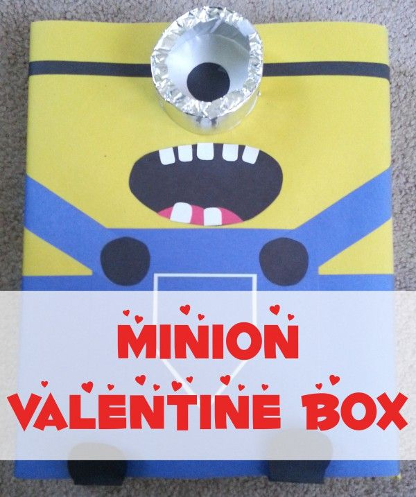Despicable Me Movie Minion Valentine Box Tutorial - DIY - Great for Kids & the Classroom.