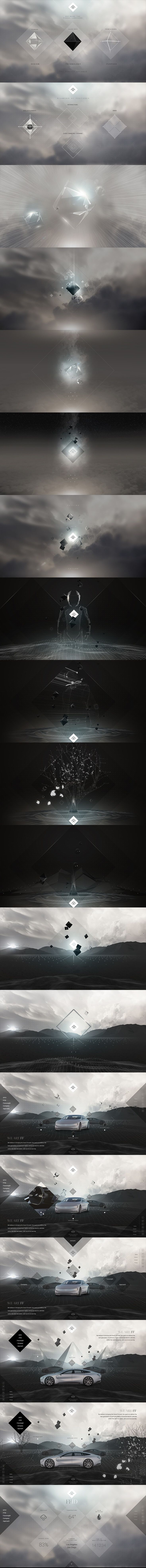 Faraday Future - Interactive design concepts by Eric Jordan [Set 3] #design #webdesign #website