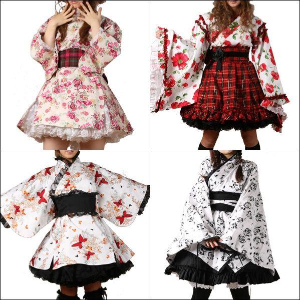 Walolita Dresses: A fusion of Japanese Kimonos w/a Classic Westernized Lolita Silhouette.