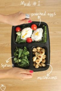 7 Days Of Healthy Meal Prep Ideas - Ready To Eat Meals and Protein On The Go With The Best Meal Containers - eggs and mushrooms recipe