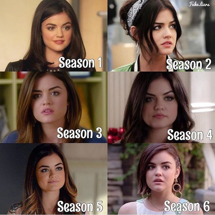 Aria Montgomery (Lucy Hale) through the seasons.