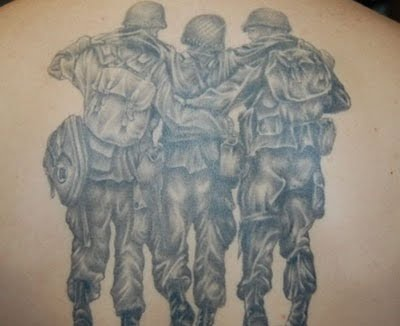 image Tattooed army bros bareback fuck and suck cock