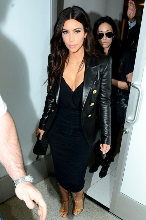 Kim looks cute.