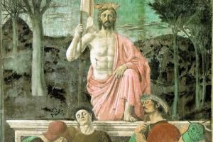 The Resurrection of Jesus Christ by Piero della Francesca (1463). - http://www.artchive.com/artchive/P/piero/resurrex.jpg.html/Public Domain