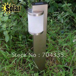 Солнечная энергия 2 из светодиодов сад из нержавеющей стали пейзаж газон путь света ( H : 56 X 7 X 3 см )