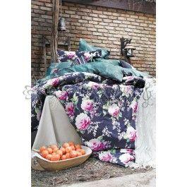 Issimo Audrey - Lenjerie de pat din bumbac satinat 2 persoane - material natural bumbac 100% - tesatura satin pentru un plus de stralucire in dormitor - model floral http://www.asternuturisiprosoape.ro/issimo-audrey-lenjerie-de-pat-din-bumbac-satinat-2-persoane.html