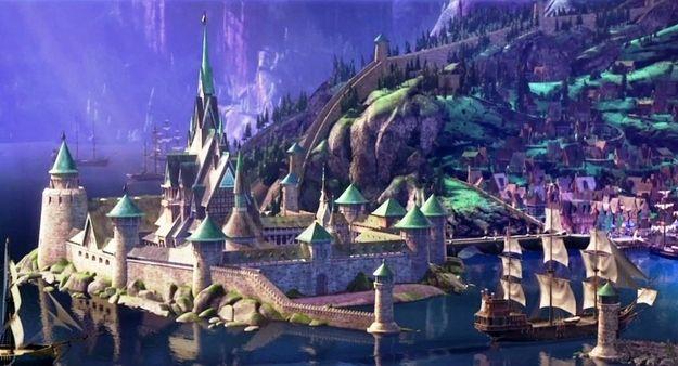 Arendelle Castle Frozen Disney Castle Disney