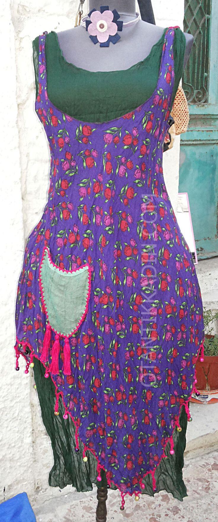 Otantik Elbise (2908)   Otantik Kadın, Otantik Giysiler, Elbiseler,Bohem giyim, Etnik Giysiler, Kıyafetler, Pançolar, kışlık Şalvarlar, Şalvarlar,Etekler, Çantalar,Takılar