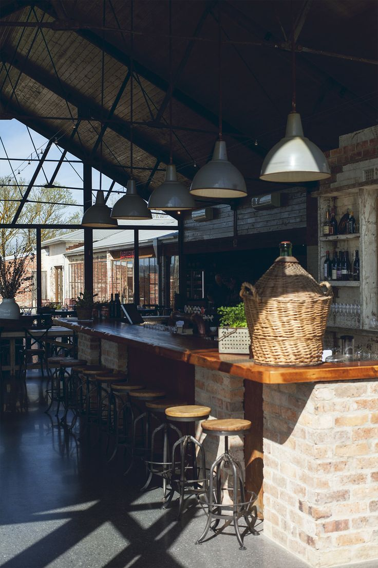 Sunshine in our lovely bar #sunshine #bar #brick #rustic #barstools #cafe #yarravalley #meletos