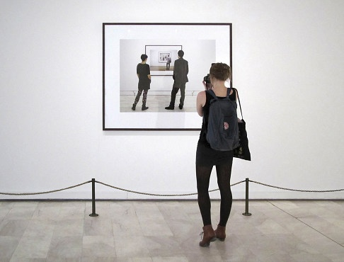 """Tint Gallery :: Past exhibitions (Georgia Kotretsos, Artemis Potamianou, G. Kotretsos, """"Being-seen-by-another is the truth of seeing the other, No.3 Macedonian Museum of Contemporary Art, Thessaloniki"""")"""