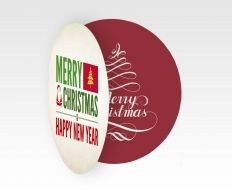Kerstbal folders! Een van de leuke standaard kerst artikelen op onze website! #kerstdrukwerk