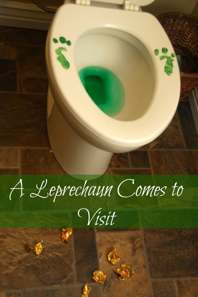 St. Patrick's Day idea - We Lure a Leprechaun and He Pees in the Toilet