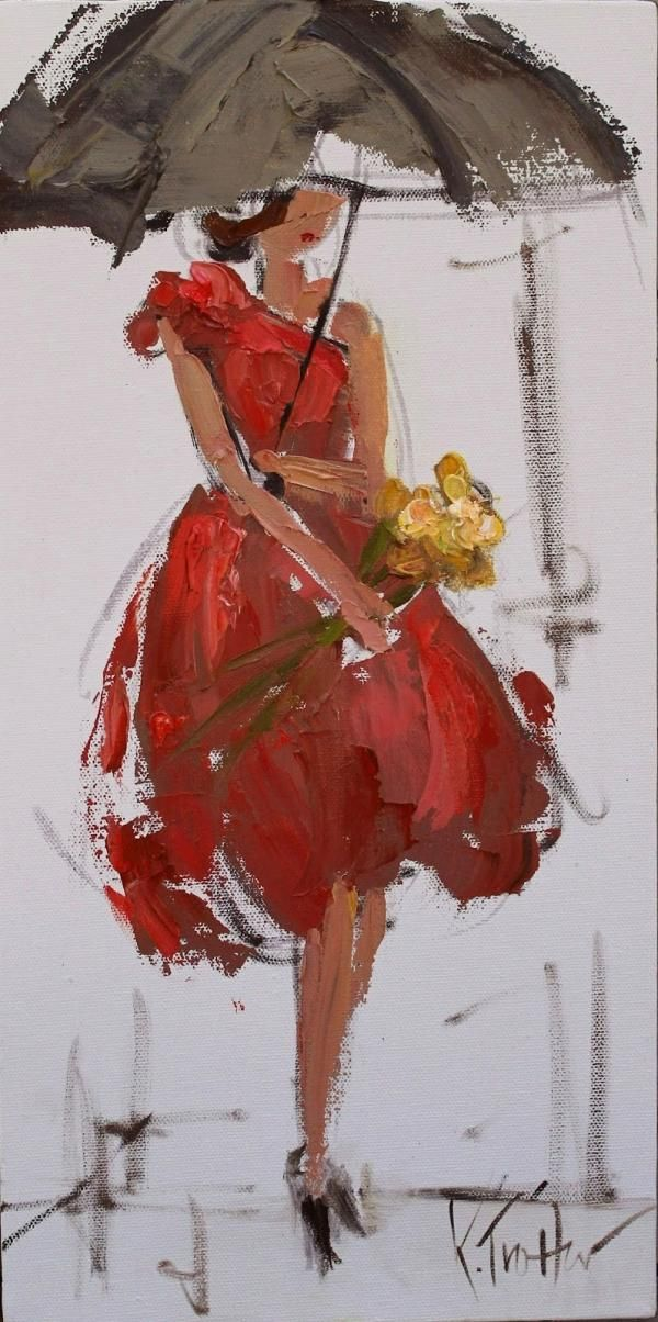 Love these oil fashion paintingsMorris Trotter, Umbrellas, Fashion Lady, Kathryn Trotter, Kathryn Morris, Lady Fashion, Fashion Illustration, Art Painting, Figures Drawing