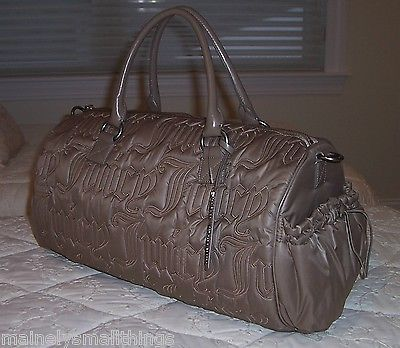 New Juicy Couture QUILTED NYLON Duffle Bag COCOA TAN YHRUS693