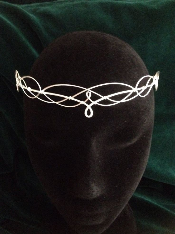Silver Circlet Crown Tiara Medieval Elven Renaissance Prom Wedding  | eBay