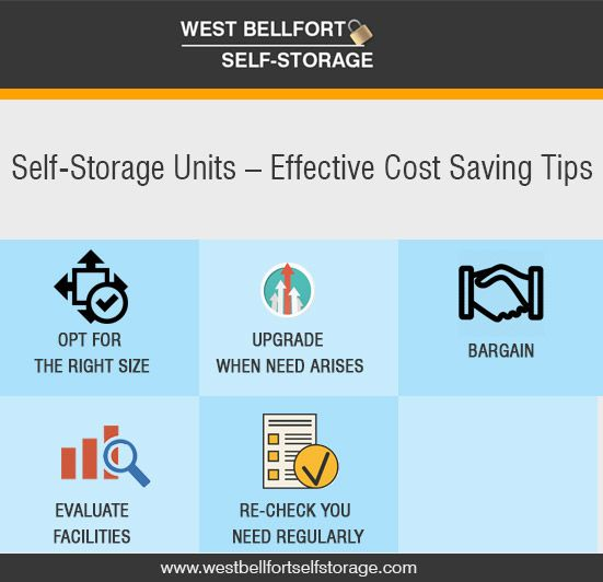 Self-Storage Units – Effective Cost Saving Tips: Self storage unit is an effective way to create an extra space for your house or office. It not only gives you added space to keep aside your goods carefully but also helps you to circulate stuff as per need.