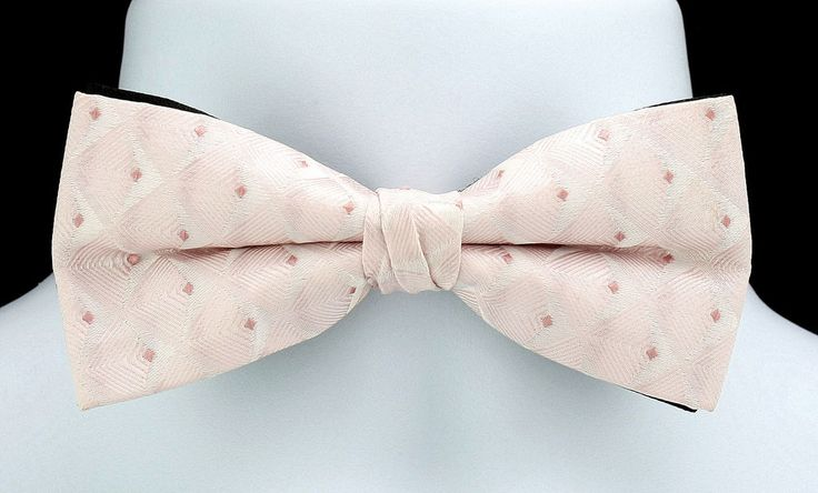 New Pink & Black Pattern Mens Bow Tie Adjust Tuxedo Prom Wedding Fashion Bowtie #TiesJustForYou #NeckTie
