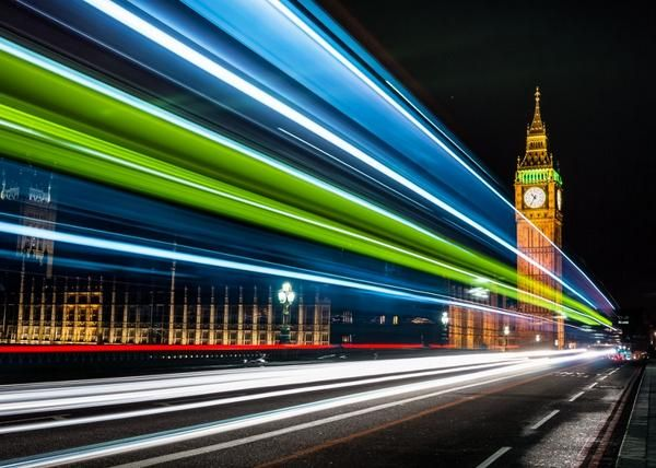 Light Trails Big Ben