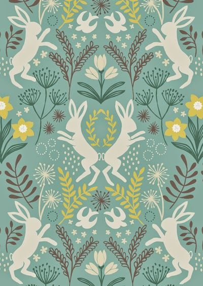 25 best ideas about rabbit wallpaper on pinterest girl for Most popular fabric patterns
