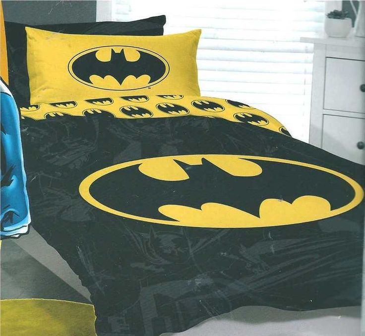 Batman Double Us Full Bed Quilt Doona Duvet Cover Set New