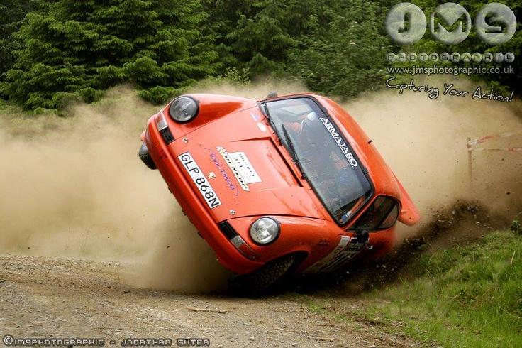 Porsche 911 historic rally car