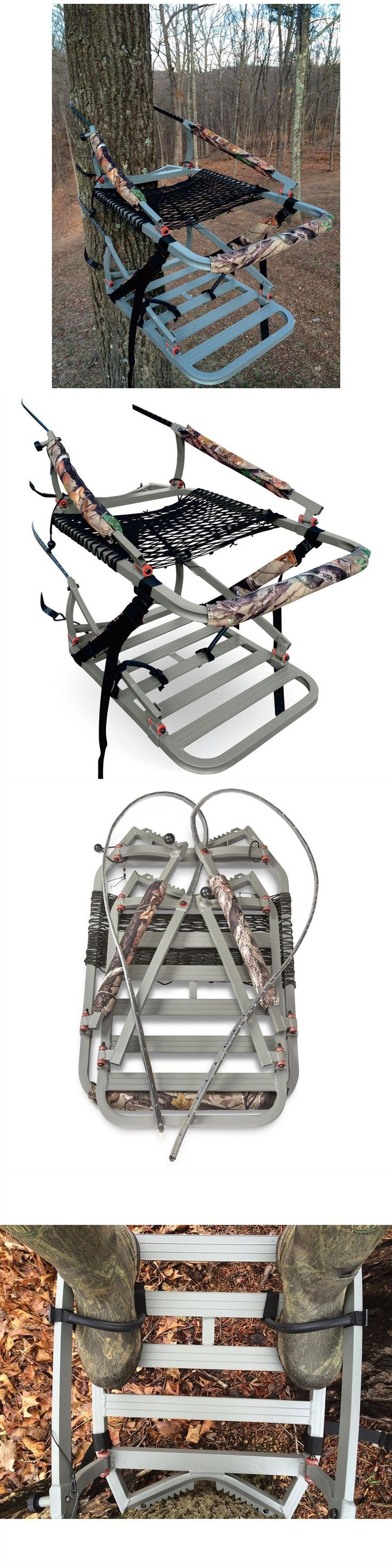 Tree Stands 52508: Tree Stand Climber Hunting Portable Outdoor Climbing Seat Big Game Deer Shooting BUY IT NOW ONLY: $201.99