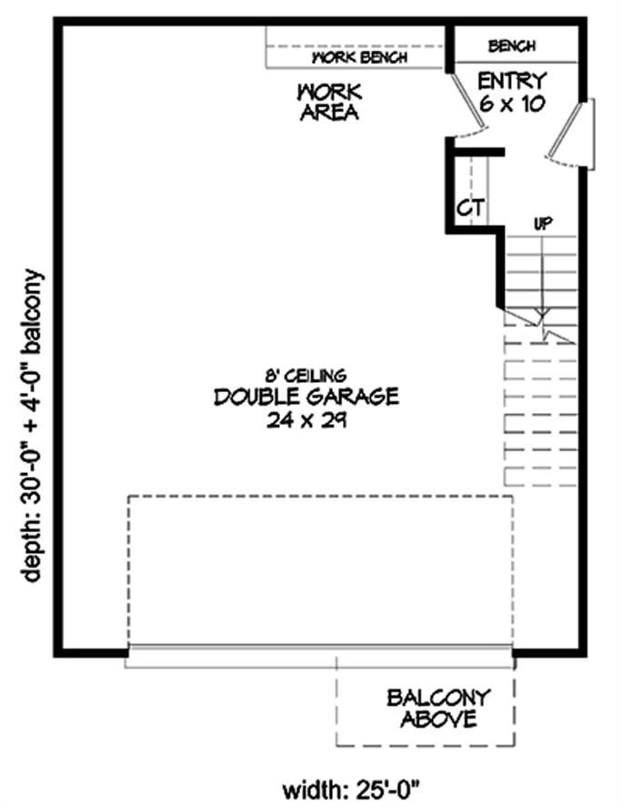 Modern Home Plan 2 Bedrms 1 Bath 817 Sq Ft 196 1066 Garage Floor Plans Modern House Plans House Plans
