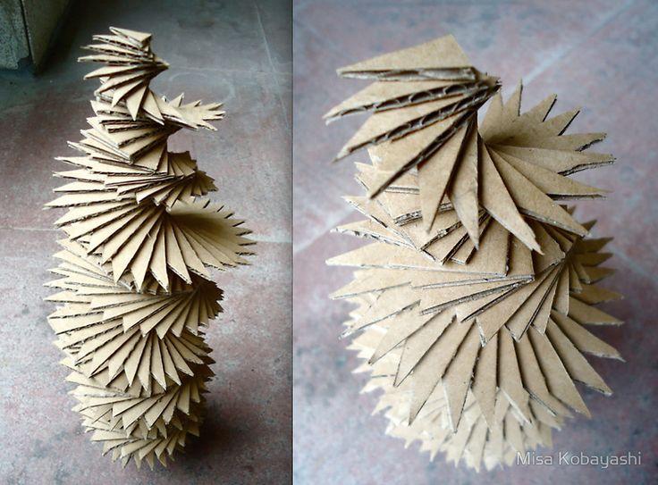 """Cardboard Sculpture"" by Misa Kobayashi | Redbubble"