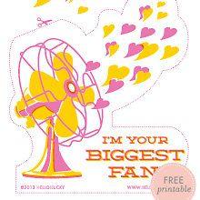 Big Fan: Free Printable Valentine's Card by @Rebecca Kahler!Lucky | Eunice & Sabrina Moyle