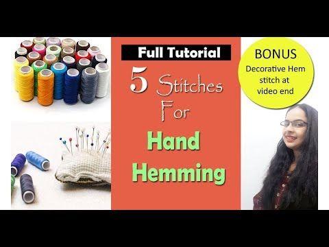 5 Stitches to Finish Garment Hem | How to Hand Hem | In Hindi | English ...