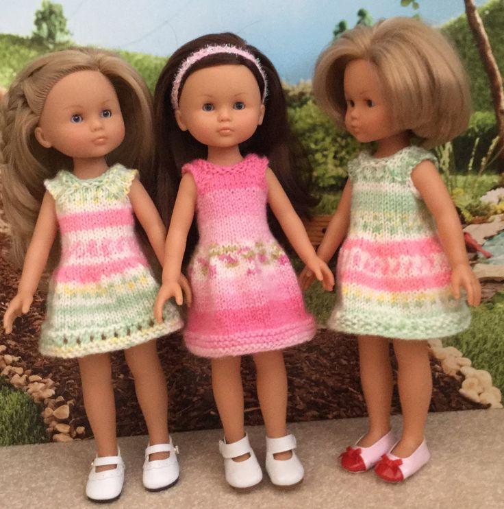 FREE: Sweet Summer Dress for 13-inch Dolls pattern by Janice Helge - http://www.ravelry.com/patterns/library/sweet-summer-dress-for-13-inch-dolls