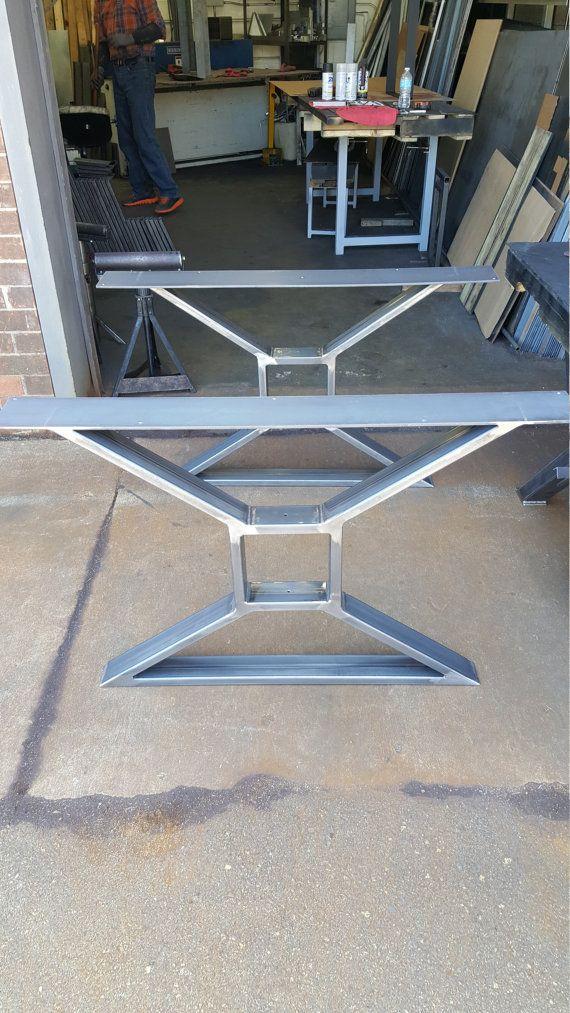 Modern Dining Table X Legs Model 009 Heavy Duty Metal di DVAMetal